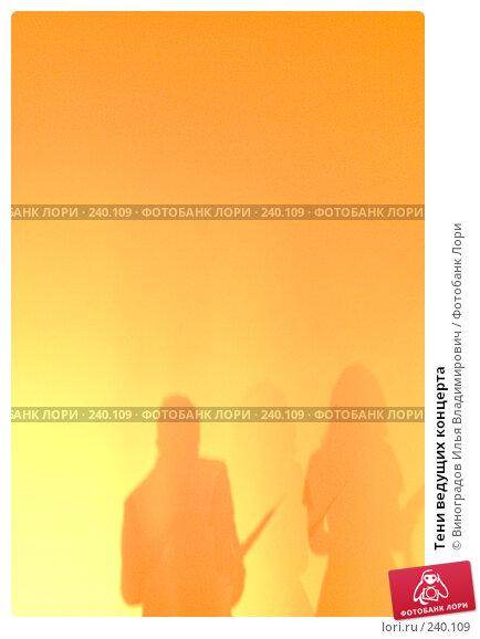 Купить «Тени ведущих концерта», фото № 240109, снято 30 ноября 2007 г. (c) Виноградов Илья Владимирович / Фотобанк Лори