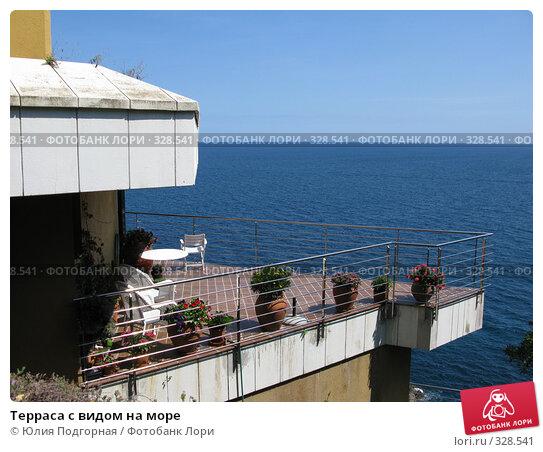 Терраса с видом на море, фото № 328541, снято 14 июня 2008 г. (c) Юлия Селезнева / Фотобанк Лори
