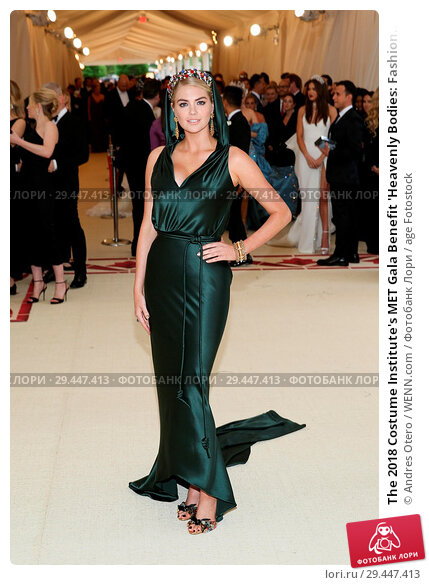 Купить «The 2018 Costume Institute's MET Gala Benefit 'Heavenly Bodies: Fashion and the Catholic Imagination' - Red Carpet Arrivals Featuring: Kate Upton Where...», фото № 29447413, снято 7 мая 2018 г. (c) age Fotostock / Фотобанк Лори