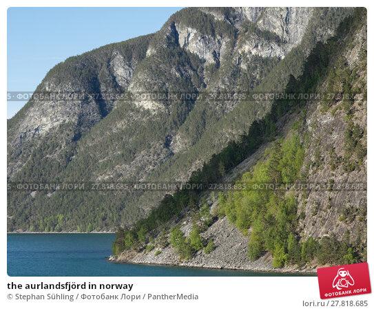 Купить «the aurlandsfjörd in norway», фото № 27818685, снято 22 февраля 2018 г. (c) PantherMedia / Фотобанк Лори
