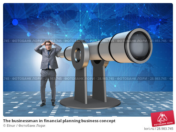 Купить «The businessman in financial planning business concept», фото № 28983745, снято 25 апреля 2019 г. (c) Elnur / Фотобанк Лори