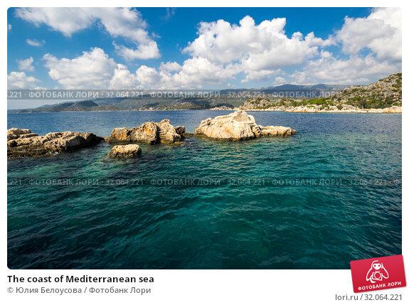 The coast of Mediterranean sea (2017 год). Стоковое фото, фотограф Юлия Белоусова / Фотобанк Лори