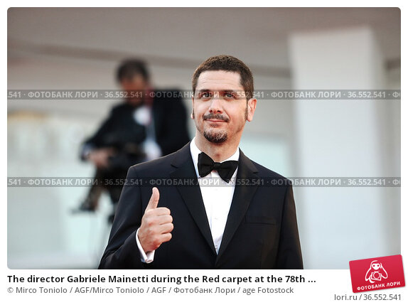 The director Gabriele Mainetti during the Red carpet at the 78th ... Редакционное фото, фотограф Mirco Toniolo / AGF/Mirco Toniolo / AGF / age Fotostock / Фотобанк Лори