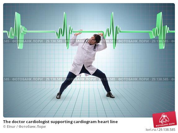 Купить «The doctor cardiologist supporting cardiogram heart line», фото № 29138585, снято 16 октября 2018 г. (c) Elnur / Фотобанк Лори