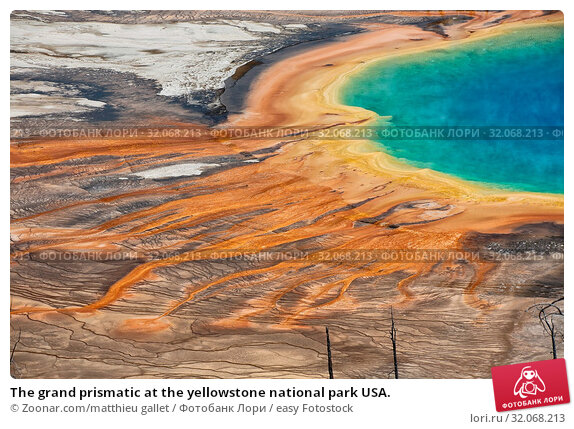 The grand prismatic at the yellowstone national park USA. Стоковое фото, фотограф Zoonar.com/matthieu gallet / easy Fotostock / Фотобанк Лори