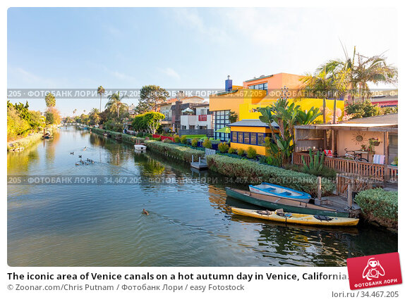 The iconic area of Venice canals on a hot autumn day in Venice, California... Стоковое фото, фотограф Zoonar.com/Chris Putnam / easy Fotostock / Фотобанк Лори