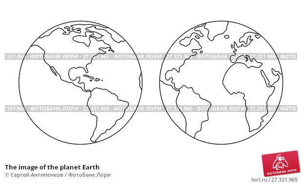 Купить «The image of the planet Earth», иллюстрация № 27331965 (c) Сергей Антипенков / Фотобанк Лори