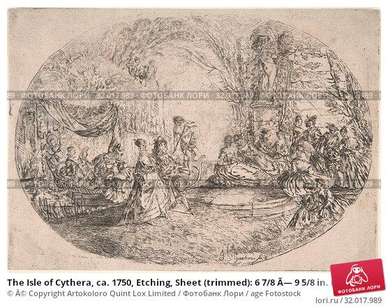 Купить «The Isle of Cythera, ca. 1750, Etching, Sheet (trimmed): 6 7/8 × 9 5/8 in. (17.4 × 24.4 cm), Prints, JérÃ'me François Chantereau (French, Paris ca. 1710–1757 Paris)», фото № 32017989, снято 26 апреля 2017 г. (c) age Fotostock / Фотобанк Лори