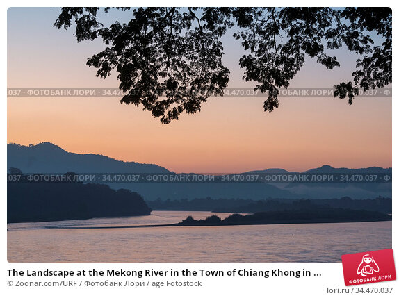 The Landscape at the Mekong River in the Town of Chiang Khong in ... Стоковое фото, фотограф Zoonar.com/URF / age Fotostock / Фотобанк Лори