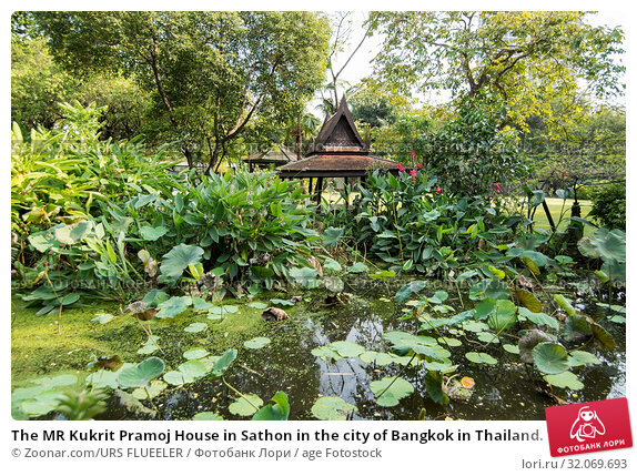 The MR Kukrit Pramoj House in Sathon in the city of Bangkok in Thailand. Thailand, Bangkok, November, 2017. Стоковое фото, фотограф Zoonar.com/URS FLUEELER / age Fotostock / Фотобанк Лори