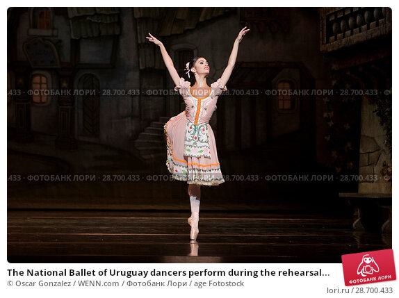 Купить «The National Ballet of Uruguay dancers perform during the rehearsal of 'Coppelia' at El Canal Theatre in Madrid Featuring: Atmosphere Where: Madrid, Spain...», фото № 28700433, снято 27 декабря 2016 г. (c) age Fotostock / Фотобанк Лори