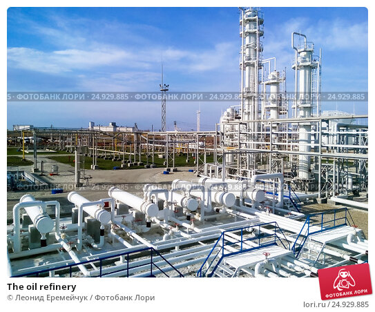 Купить «The oil refinery», фото № 24929885, снято 22 ноября 2015 г. (c) Леонид Еремейчук / Фотобанк Лори