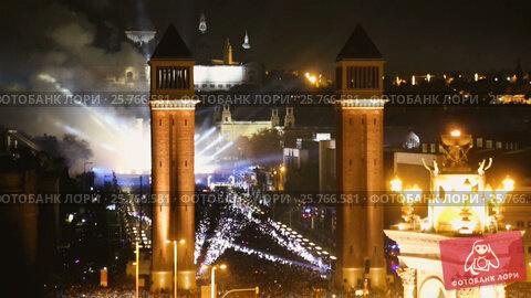 Купить «The picturesque area of Spain in the new year's eve», видеоролик № 25766581, снято 9 января 2017 г. (c) Яков Филимонов / Фотобанк Лори