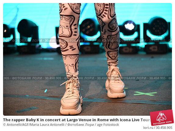 The rapper Baby K in concert at Largo Venue in Rome with Icona Live Tour. (2019 год). Редакционное фото, фотограф Antonelli/AGF/Maria Laura Antonelli / age Fotostock / Фотобанк Лори