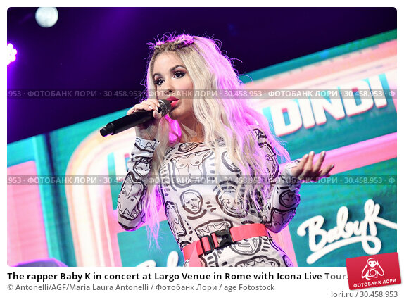 The rapper Baby K in concert at Largo Venue in Rome with Icona Live Tour. (2019 год). Редакционное фото, фотограф Antonelli/AGF/Maria Laura Antonelli / age Fotostock / Фотобанк Лори