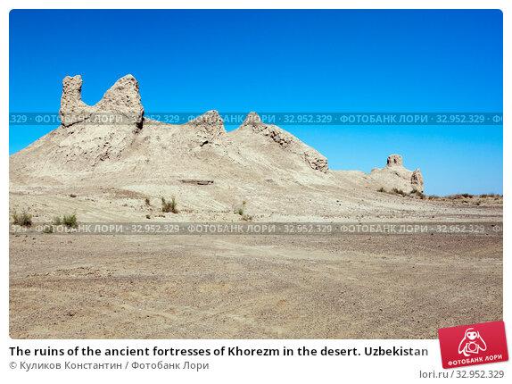 The ruins of the ancient fortresses of Khorezm in the desert. Uzbekistan (2015 год). Стоковое фото, фотограф Куликов Константин / Фотобанк Лори