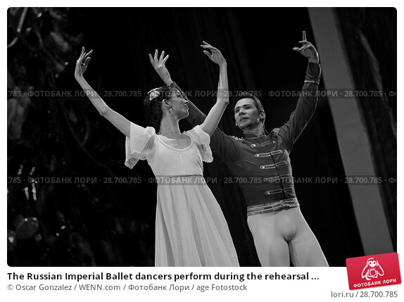 Купить «The Russian Imperial Ballet dancers perform during the rehearsal of 'El Cascanueces' at Lope de Vega Theatre in Madrid, Spain. Where: Madrid, Community...», фото № 28700785, снято 27 декабря 2016 г. (c) age Fotostock / Фотобанк Лори