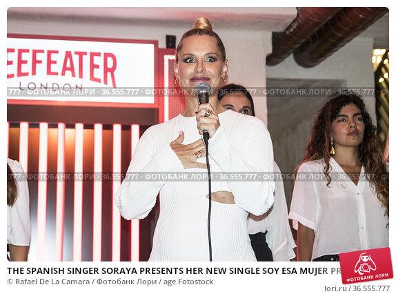 THE SPANISH SINGER SORAYA PRESENTS HER NEW SINGLE SOY ESA MUJER PREGNANT... Редакционное фото, фотограф Rafael De La Camara / age Fotostock / Фотобанк Лори