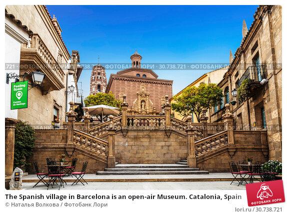 Купить «The Spanish village in Barcelona is an open-air Museum. Catalonia, Spain», фото № 30738721, снято 6 апреля 2018 г. (c) Наталья Волкова / Фотобанк Лори