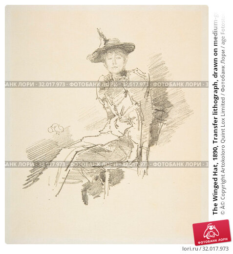 Купить «The Winged Hat, 1890, Transfer lithograph, drawn on medium-grained transfer paper, second state of two (Chicago), printed in black ink on off-white medium...», фото № 32017973, снято 22 апреля 2017 г. (c) age Fotostock / Фотобанк Лори