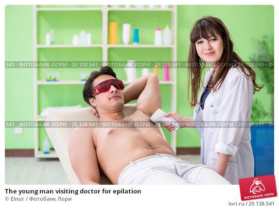 Купить «The young man visiting doctor for epilation», фото № 29138541, снято 6 июня 2018 г. (c) Elnur / Фотобанк Лори