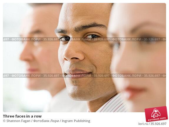 Three faces in a row. Стоковое фото, фотограф Shannon Fagan / Ingram Publishing / Фотобанк Лори