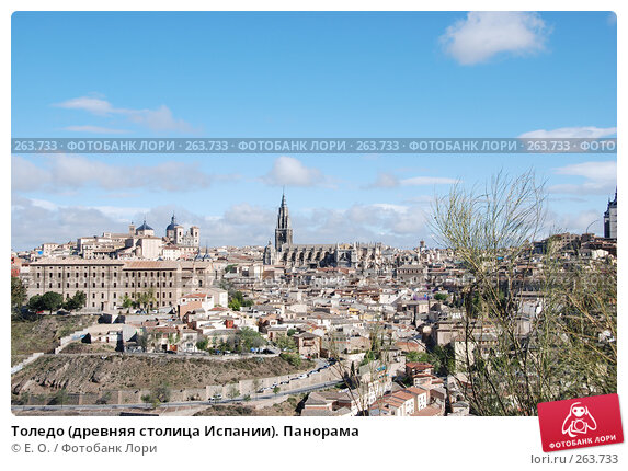 Купить «Толедо (древняя столица Испании). Панорама», фото № 263733, снято 21 апреля 2008 г. (c) Екатерина Овсянникова / Фотобанк Лори