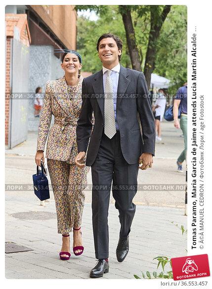 Tomas Paramo, Maria Garcia de Jaime attends Lucia Martin Alcalde ... Редакционное фото, фотограф ©MANUEL CEDRON / age Fotostock / Фотобанк Лори