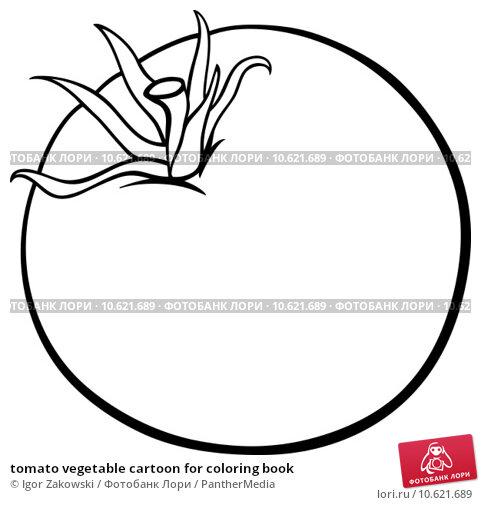 tomato vegetable cartoon for coloring book. Стоковая иллюстрация, иллюстратор Igor Zakowski / PantherMedia / Фотобанк Лори