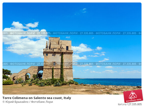 Купить «Torre Colimena on Salento sea coast, Italy», фото № 27335805, снято 9 июня 2017 г. (c) Юрий Брыкайло / Фотобанк Лори
