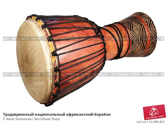 Купить «Традиционный национальный африканский барабан», фото № 12996421, снято 19 октября 2015 г. (c) Анна Зеленская / Фотобанк Лори