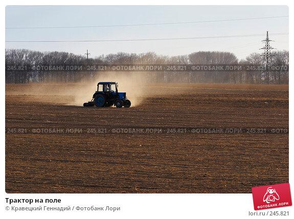 Купить «Трактор на поле», фото № 245821, снято 15 апреля 2005 г. (c) Кравецкий Геннадий / Фотобанк Лори