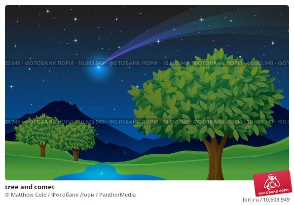 tree and comet. Стоковая иллюстрация, иллюстратор Matthew Cole / PantherMedia / Фотобанк Лори