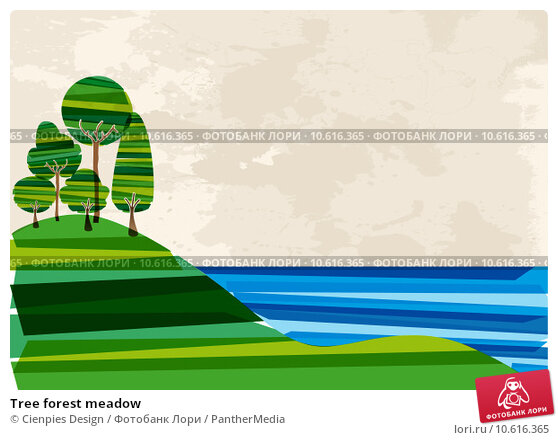 Tree forest meadow. Стоковая иллюстрация, иллюстратор Cienpies Design / PantherMedia / Фотобанк Лори