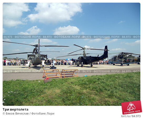 Купить «Три вертолета», фото № 84973, снято 25 августа 2007 г. (c) Бяков Вячеслав / Фотобанк Лори