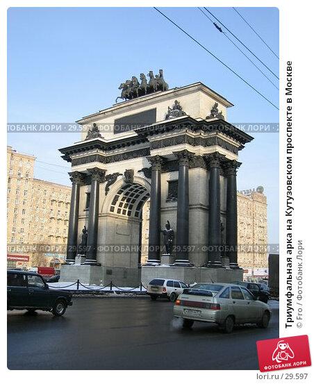 Триумфальная арка на Кутузовском проспекте в Москве, фото № 29597, снято 26 января 2006 г. (c) Fro / Фотобанк Лори