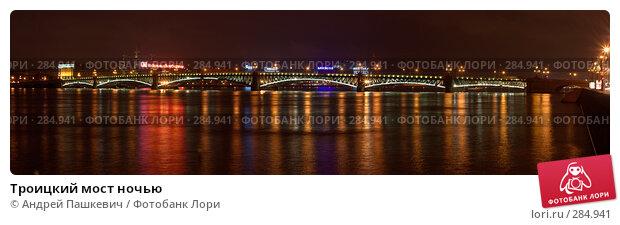 Купить «Троицкий мост ночью», фото № 284941, снято 22 марта 2018 г. (c) Андрей Пашкевич / Фотобанк Лори