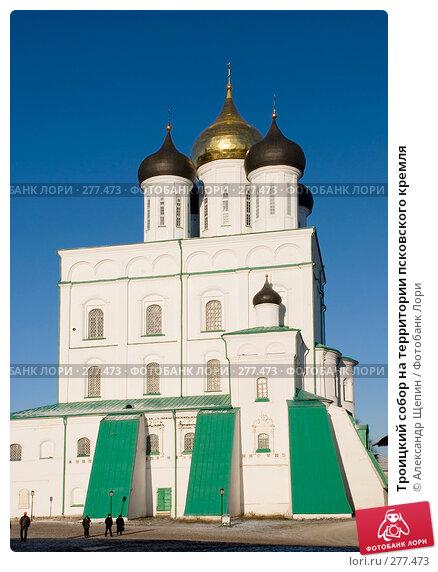 Троицкий собор на территории псковского кремля, эксклюзивное фото № 277473, снято 4 января 2008 г. (c) Александр Щепин / Фотобанк Лори