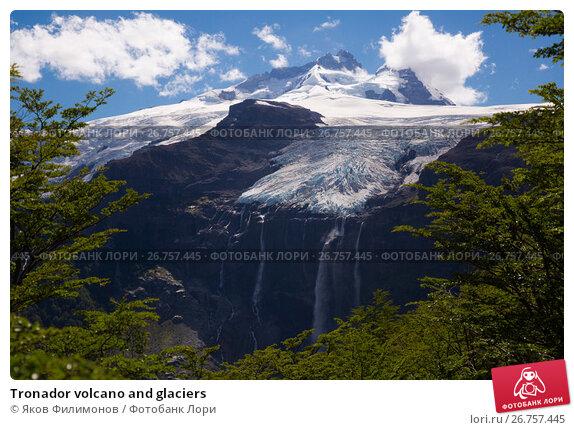 Купить «Tronador volcano and glaciers», фото № 26757445, снято 5 февраля 2017 г. (c) Яков Филимонов / Фотобанк Лори
