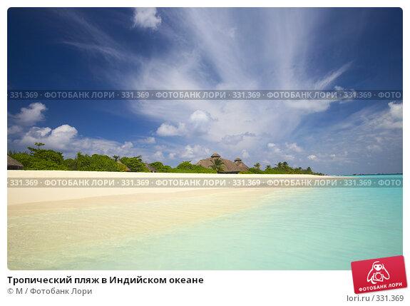 Купить «Тропический пляж в Индийском океане», фото № 331369, снято 17 марта 2018 г. (c) М / Фотобанк Лори