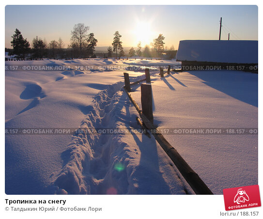 Тропинка на снегу, фото № 188157, снято 24 февраля 2007 г. (c) Талдыкин Юрий / Фотобанк Лори