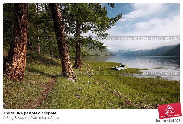 Купить «Тропинка рядом с озером», фото № 134073, снято 2 июля 2006 г. (c) Serg Zastavkin / Фотобанк Лори