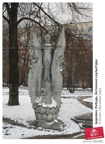 Царевна Лебедь, бетонная скульптура, фото № 202629, снято 15 февраля 2008 г. (c) Corwin / Фотобанк Лори
