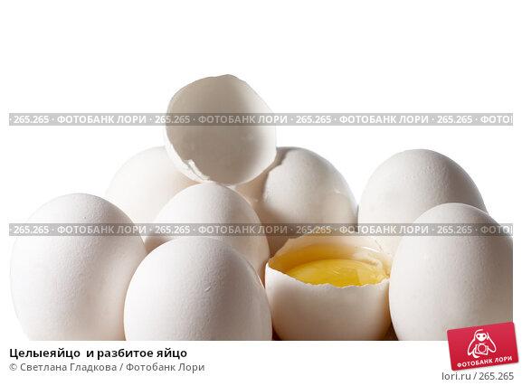Целыеяйцо  и разбитое яйцо, фото № 265265, снято 30 марта 2008 г. (c) Cветлана Гладкова / Фотобанк Лори