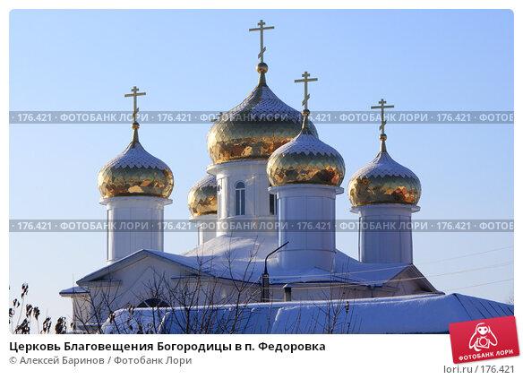 Церковь Благовещения Богородицы в п. Федоровка, фото № 176421, снято 7 января 2008 г. (c) Алексей Баринов / Фотобанк Лори