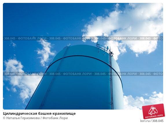 Цилиндрическая башня-хранилище, фото № 308045, снято 2 июня 2008 г. (c) Наталья Герасимова / Фотобанк Лори
