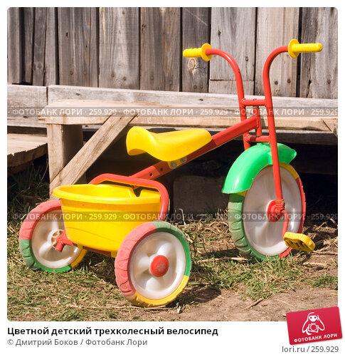 Цветной детский трехколесный велосипед, фото № 259929, снято 20 апреля 2008 г. (c) Дмитрий Боков / Фотобанк Лори