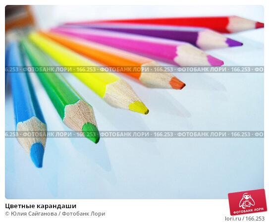 Цветные карандаши, фото № 166253, снято 4 января 2008 г. (c) Юлия Сайганова / Фотобанк Лори