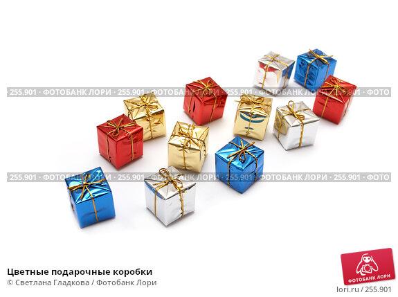 Купить «Цветные подарочные коробки», фото № 255901, снято 9 апреля 2008 г. (c) Cветлана Гладкова / Фотобанк Лори