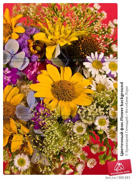 Цветочный фон.Flower background, фото № 309581, снято 1 августа 2004 г. (c) Кравецкий Геннадий / Фотобанк Лори
